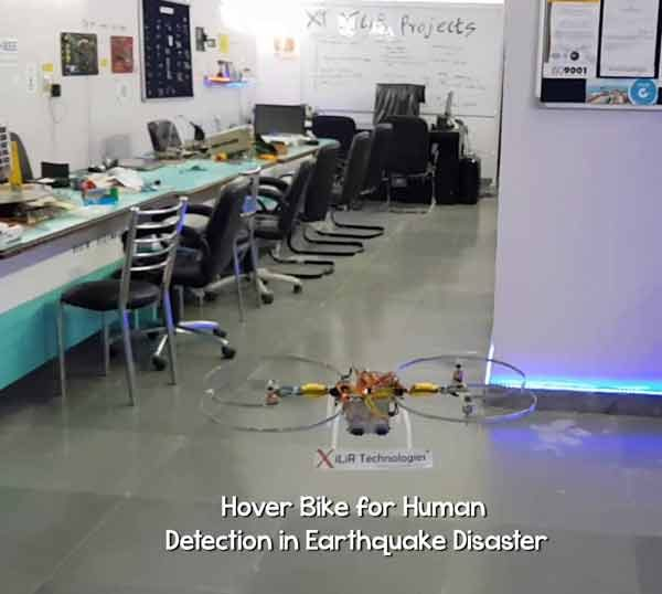 Advanced Hover Bike for Human Detection in Earthquake Disaster